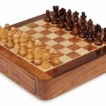 Magnetic Travel Chess Set with Drawer 7.5″