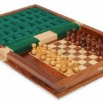 Book Style Magnetic Travel Chess Set – 9″