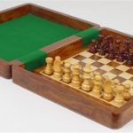 Magnetic Travel Chess Set with Inside Board – 9″