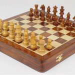 Magnetic Travel Chess Set with Top-side Board – 12″