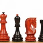 Yugoslavia Staunton Chess Set in Ebony & African Padauk – 3.25″ King